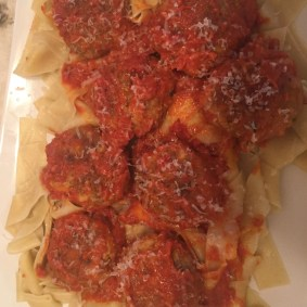Stuffed Meatballs and Pasta
