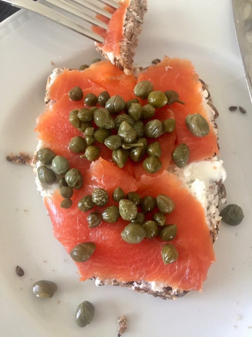 Favorite Bagel with Sockeye Salmon Lox