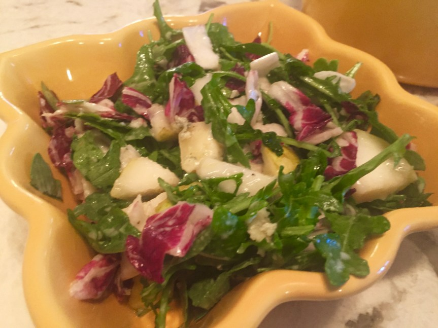 Arugula Radicchio with Bay Blue Cheese