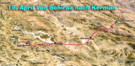 Von Schiraz nach Kerman