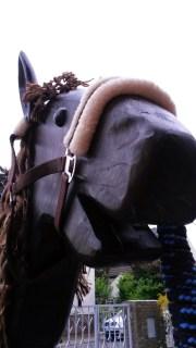 Liebes Gesicht vom Holzpferd