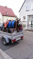 Holzpferd selbstgebaut - der Transport