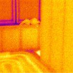 Das Schlafzimmer ist schon mal schön warm...