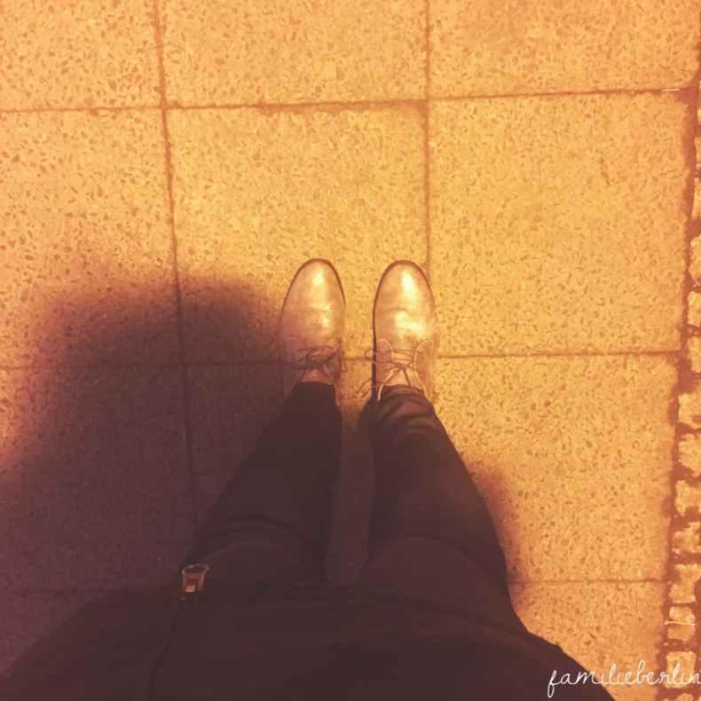 Schuhe, Morgen, Fruehe, Bahnsteog