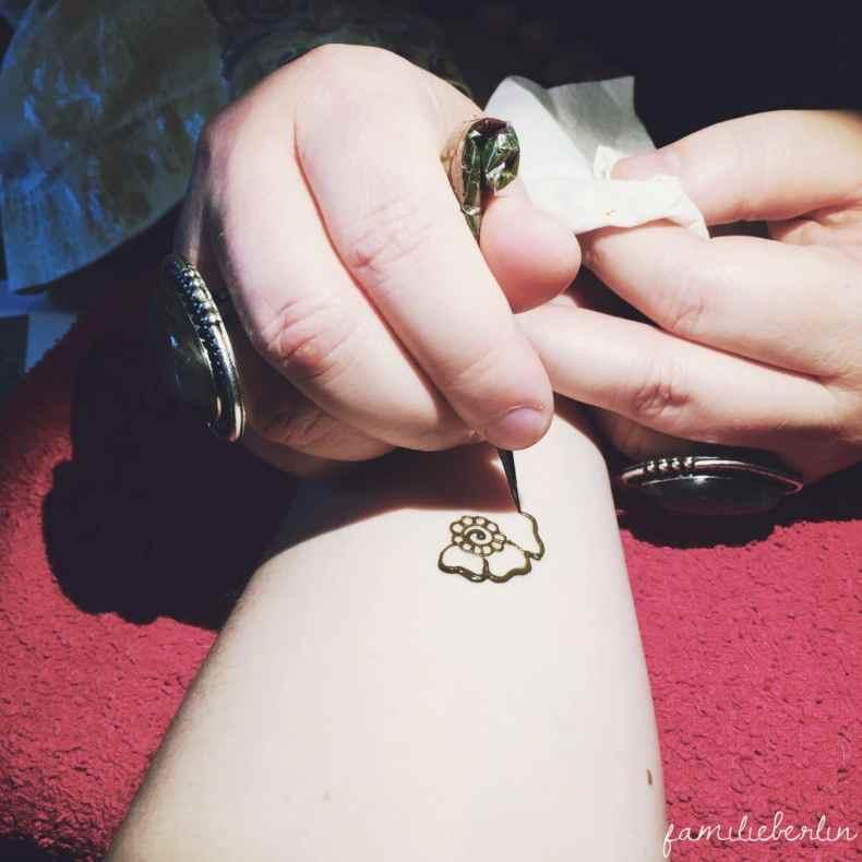 Babyparty, Blessingway, Henna, Tattoo, Arm, bemalen, Symbol