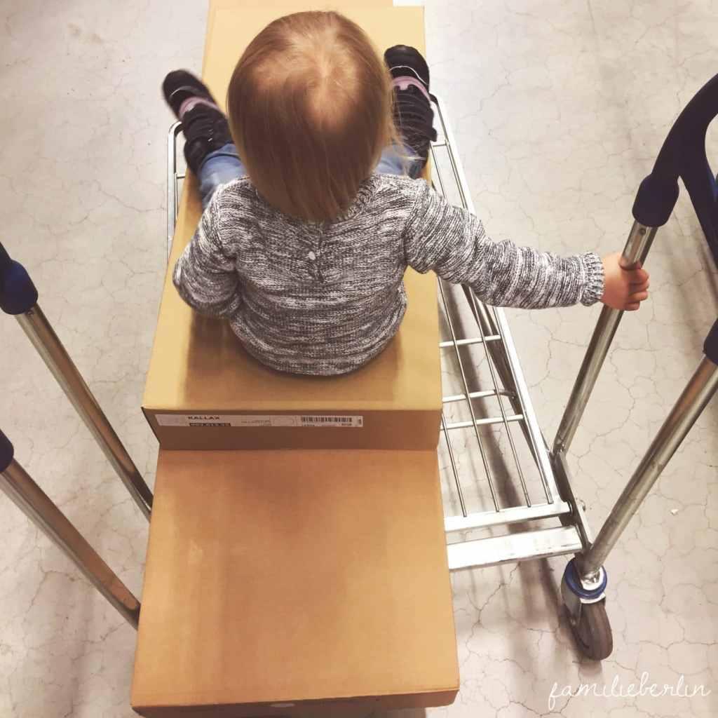 Ikea, Einkauf, Kleinkind, Wagen, Schieben