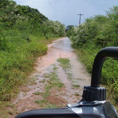 Der Weg zu unserem Landhaus wird zum Fluss