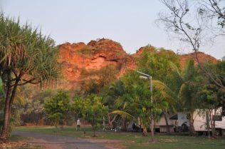 (C) Jule Reiselust: Abendstimmung am Hidden Valley Campground mit Blick auf die Mini-Bungle-Bungles.
