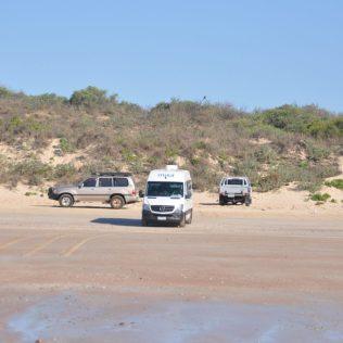 (C) Jule Reiselust: Unser Reisemobil ist auch am Strand angekommen.