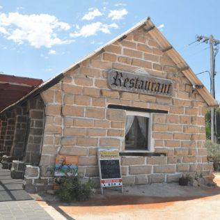(C) Jule Reiselust: Das Pearlers Restaurant in Denham ist aus Coquina - Muschelblöcken- gebaut.