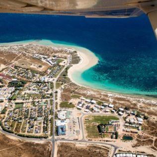 Coral Bay aus dem Spotterplane fotografiert.