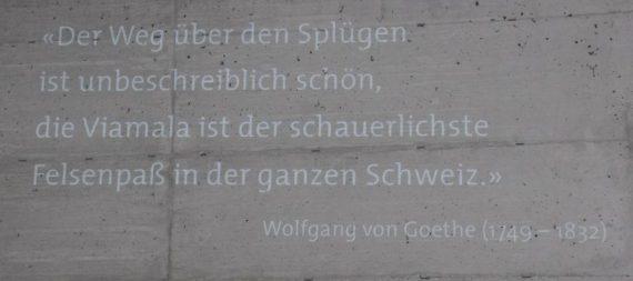 (C) Jule Reiselust: Goethe beeindruckte die Reise durch die Viamala so sehr, dass er darüber schrieb.