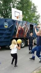 Basketball spielen am Alba Mobil