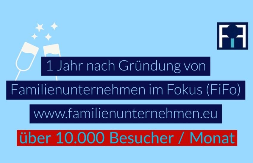 Familienunternehmen im Fokus (FiFo) verzeichnet 10.000 Besucher pro Monat