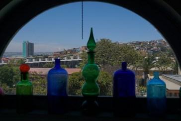 Blick aus dem Haus Pablo Nerudas, ValparaisoValparaiso