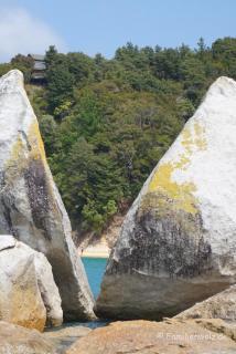 "Der ""Split Apple Rock"" im Abel Tasman Nationalpark"