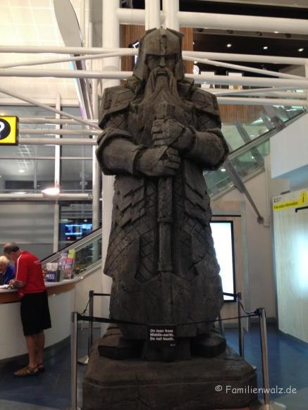 Arrival in Auckland: Herr der Ringe