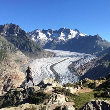 Jean Prod'hom face au glacier