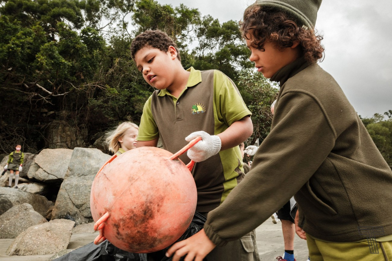 Beach Clean Up day for Green Week at LIS