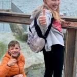 Finlay and Iona R W at Aquarium