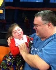 Rachel's hero is her dad, Brian Steele.!  Rachel adores her daddy!  (Submitted by Roxanne Steele)