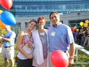 Scott, Nancy and Jillian Bleggi at the 2010 Family Conference on HPE
