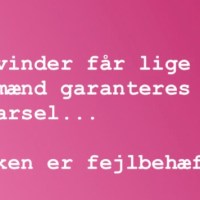 Kvindernes Kampdag 2019 - og mænd skal have rettigheder, for at sikre kvinders?
