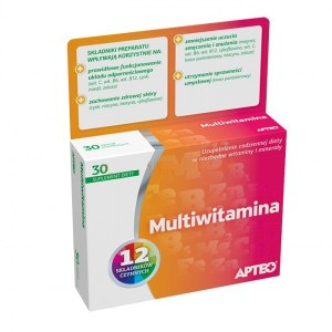 Multiwitamina, Apteo, 60 tabletek