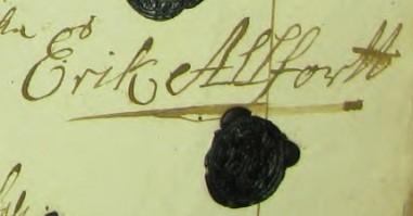 Erik Allfort (1660-1730), son till den förste svenske medlemmen af Alfortsläkten.