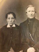Axels svärföräldrar Anders och Charlotta Pettersson som arrenderade Hårdaholmen och Boarp. Fotot vänligen inskickat av Margareta Sigbladh.
