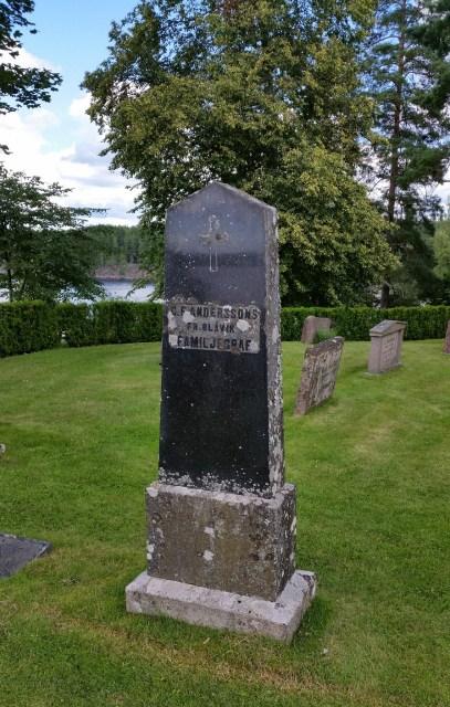 Carl Fredrik Anderssons familjegrav i Blåvik.