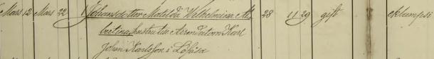 Matilda Wilhelmina Albertinas död 1878. Torpa församling.