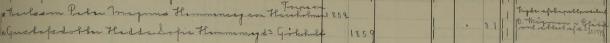 Per Magnus och Hedda Sofia vigdes av kapellpredikant Wågman i Blåvik 1878 då Blåvik kyrka fortfarande höll på att byggas. Malexander församling.