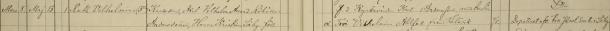 Ruth Vilhelminas dop 1888. Dopvittnen: f. d. Kyrkevärden Karl Andersson med hustru Troi Vilhelmina Ahlfort från Blåvik. Blåvik församling.
