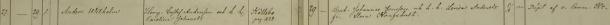 Anders Wilhelms dop 1861. Vittnen: Bruk. Johannes Jonsson och h. h. Lovisa Andersdr fr. Stora Kongshult. Säby församling.