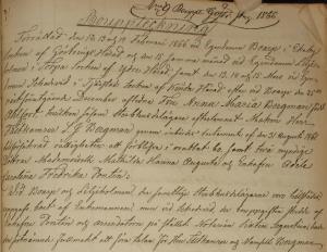 Inledningen på bouppteckningen efter Anna Maria.