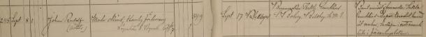 Johan Rudolfs dop 1897: Barnet anmält af barnmorskan Thekla Grundelius – Dopatt. i konvolut, lemnad åt modern; Inskrifven å motsvarande sida i församlingsboken. Jönköpings Sofia församling.