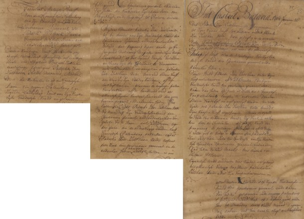 The Palembang sultan Mahmud Badaruddin I requests Dutch assistance against his foe, 26/1 1731. Source: Sejarah Nusantara.