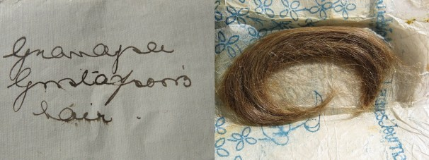 A piece of Anders Johan Gustafsson's hair. Photo kindly provided by Chris-Marié Wessels.