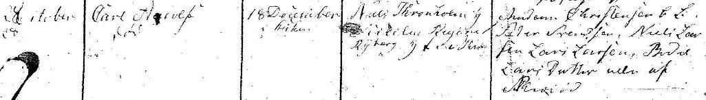 Carl Adolfs dop 1825. Ramløse församling.