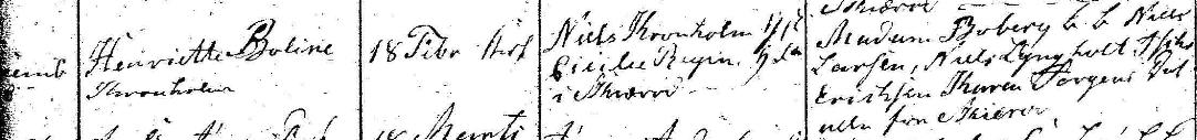 Henriette Bolines dop 1826. Ramløse församling.