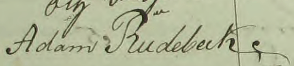 Adams namnteckning 1816.