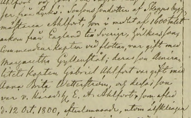 Anna Maria Ahlforts död 1865. Ekeby församling.