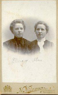 Systrarna Ellen och Alma.