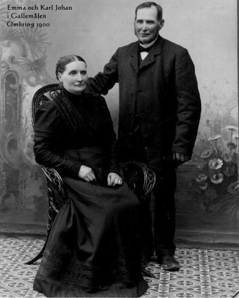 Emma och Karl Johan i Gallemålen, Anna Ottilias föräldrar.