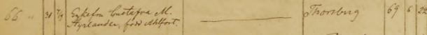 Gustafva Styrlanders död 1862. Undenäs församling.