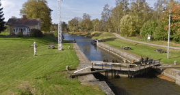 Göta Kanal vid Tåtorp nu för tiden. Google.
