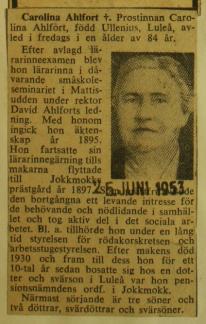 Svenska Dagbladet 25/6 1953.