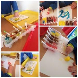 Peinture aux glaçons-sens-toucher-RAMEP MONTS