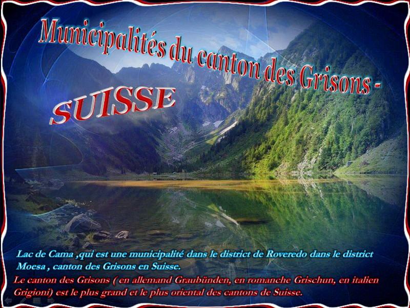 Municipalités des Cantons des Grisons – Suisse